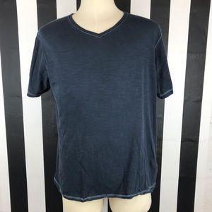 Michael Brandon Navy V Neck Tee Shirt